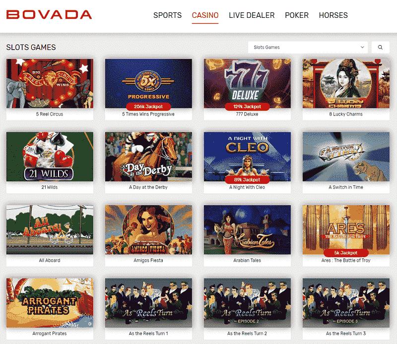 Bovada Slot Machines