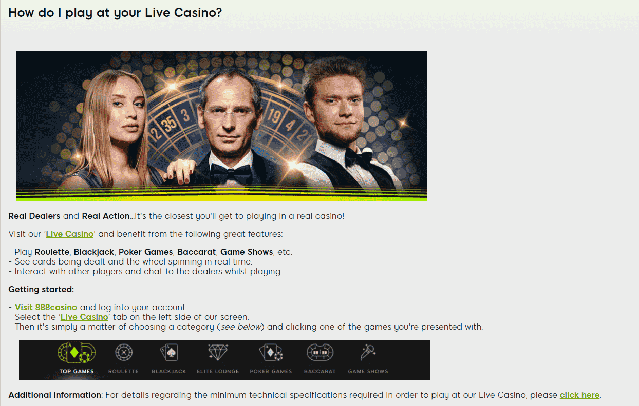 Live Casino Service